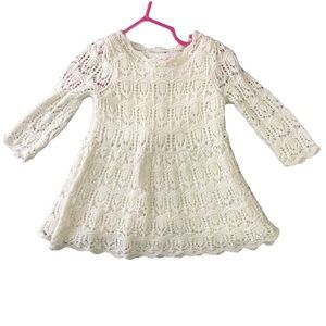 Cat & Jack Baby Girl's White & Gold Dress 12Months